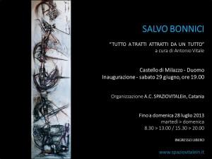 Salvo Bonnici - invito mostra di castello di Milazzo