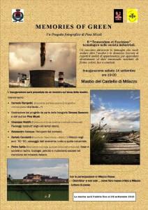 Locandina Memories of  green Jpeg con Milazzo Rossa