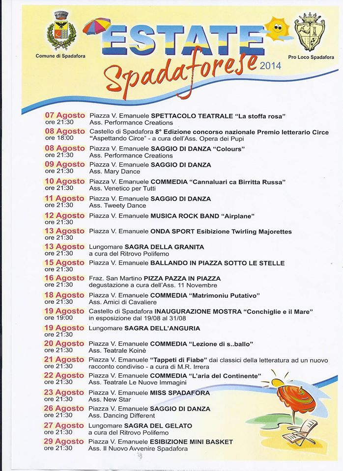 Estate Spadaforese 2014