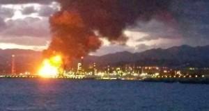 Milazzo: Incendio alla Raffineria