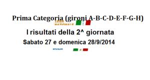 Calcio, Prima Categoria Sicilia, i risultati della 2^ giornata di campionato