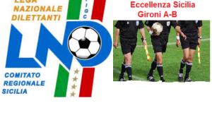 Calcio Eccellenza Sicilia (A-B), 9^ giornata: Designazioni arbitrali (sabato 1 e domenica 2/11/2014)