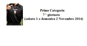 Calcio Prima Categoria Sicilia: Designazioni arbitrali 7^ giornata