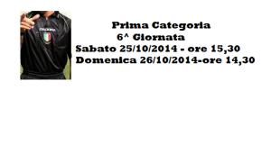 Calcio Prima Categoria Sicilia: Designazioni arbitrali gare della 6^ giornata