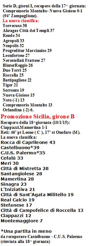 Serie D e Promozione